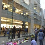 Flowers for Steve at the Apple Store